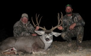 Gary Wauson and Chris with Garys buck